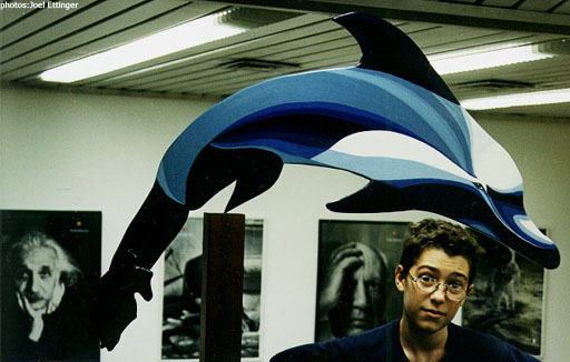 Dolphon balancing sculpture